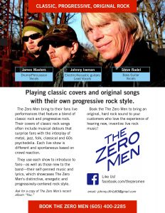 The Zero Men - Event Poster